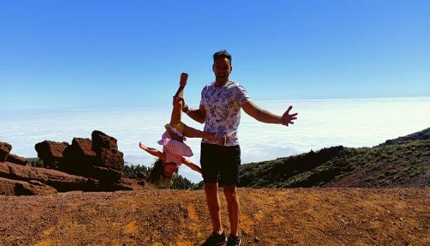 La Palma con niños. mar de nubes