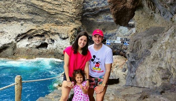 La Palma con niños. porís de candelaria